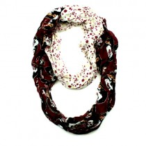 Florida State Seminoles Scarves - Split Floral Style - Infinity Scarves - 2 For $15.00