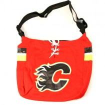 "Overstock Sale - Calgary Flames Purses - ""The Laces"" - Jersey Purses - 4 For $20.00"