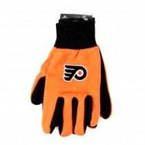 Philadelphia Flyers Gloves - (Pattern May Be Different Than Pictured) - Black Palm Series - 12 Pair For $36.00