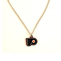 Philadelphia Flyers Necklace - AMCO Metal Chain and Pendant - $3.00