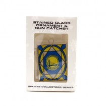 Golden State Warriors Ornament - Stained Glass Suncatcher Style Ornament - 12 For $30.00
