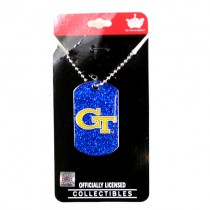 Georgia Tech Necklaces - Glitter Series Pendants - 12 For $30.00