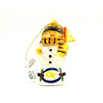 Georgia Tech Ornaments - Snowman Scarf Style - 12 For $24.00