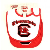 South Carolina Gamecocks Merchandise - 2Pack Baby Bibs - 12 2Packs For $24.00