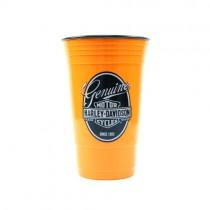 Harley Davidson - GEN1755 - Orange 16OZ Tumblers - Since 1903 - 2 For $10.00