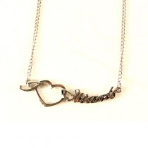 New York Giants Necklace - Heart Style - $4.00 Each
