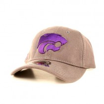 KState Wildcats Caps - Gray Classic With Purple Logo - 2 Caps For $12.00