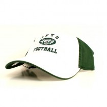 New York Jets Caps - White Face With Green Backing - Jets Football Style Caps - 2 For $15.00