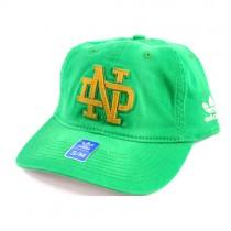 Notre Dame Hats - Green S/M FlexFit - Gold ND Logo - 2 For $10.00