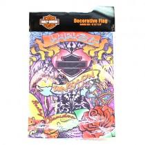 "Harley Merchandise - 12""x18"" Garden Size Flag - Heart Hers Graffiti Style - $5.00 Each"