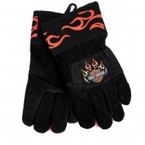 Harley Davidson Men's Gloves - Kevlar/Leather - Large/XL Assorted - 2 Pair For $12.00