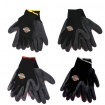 Harley Davidson Gloves - Poly Rubber Coated Work Gloves -24 Pair For $60.00 - Assorted S/M/L