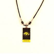 Iowa Hawkeyes Necklaces - Diamond Plate Style - 12 For $39.00
