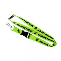 Miami Heat Lanyards - Premium 2-Sided FULL Neon - 12 For $30.00