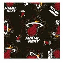 "Style Change Blowout - Miami Heat Scarf - Silky Style - 35""x35"" - 12 For $60.00"