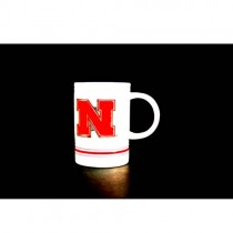 Nebraska Huskers Mugs - 16OZ White Metal Tag Mugs - 12 For $60.00