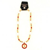 """Iowa State Necklace - 18"""" Natural Shell Necklaces - 12 Necklaces For $84.00"""