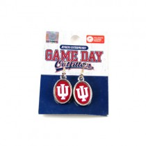 University Of Indiana Earrings - Dangle Oval Style - 12 Pair For $30.00