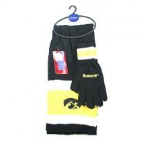 Iowa Hawkeyes Sets - (Pattern May Be Different Than Pictured) Heavy Knit Scarf And Fleece Glove Set - 12 For $144.00