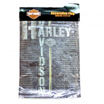 """Wholesale Harley Flags - 12""""x18"""" Pavement Garden Size Flag - Iron Pewter Style - $5.00 Each"""
