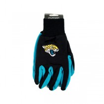 Overstock - Jacksonville Jaguars Gloves - (Pattern May Be Different Than Pictured) - Black Face With Blue Palm Grip Gloves - 12 Pair For $30.00