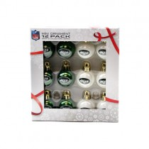 New York Jets Ornament - 12 Pack Mini Ball Ornaments - 12 Boxes For $30.00