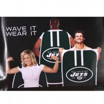 """Opportunity Buy - New York Jets Flags - 36""""x47"""" Fan Flags - 2 For $12.00"""