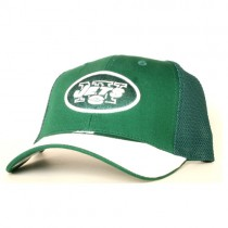 New York Jets Hats - 2Tone Green.White Mesh Back Hats $7.50 Each