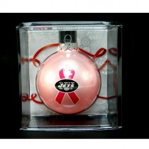 New York Jets Ornaments - PINK Ball Style - 12 For $30.00