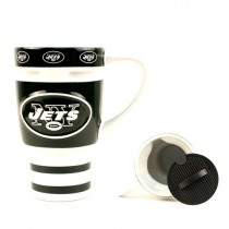 New York Jets Mugs - 15OZ Ceramic Sculpted Travel Mugs - 12 Mugs For $96.00