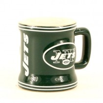 New York Jets Shotglass - 2OZ Sculpted Mug (Pattern May Be Different Than Pictured) - 12 Shotglasses For $39.00