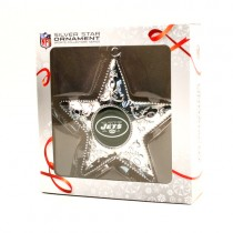 New York Jets Ornaments - Silver Star Style - 12 For $36.00