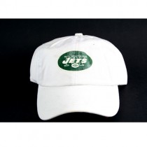 New York Jets Caps - White Hat With Green Logo - 2 For $12.00