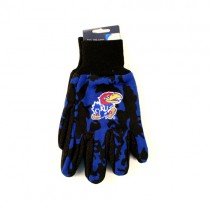 Kansas Jayhawks Gloves - Blue/Black Team Camo Grip Gloves - $4.00 Per Pair