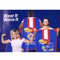"Opportunity Buy - Kansas Jayhawks Flags - 36""x47"" Fan Flags - 2 For $12.00"
