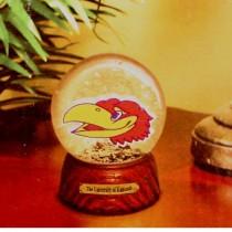 Kansas Jayhawks Merchandise - Full Size Water Globe - 2 For $10.00