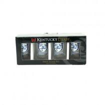 Kentucky Derby Shot Glass - 4Pack Set Derby - 12 Sets For $30.00