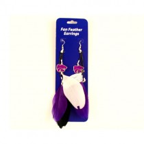 KState Wildcats Earrings - Dangle Feather Style - $2.75 Per Pair