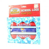 Closeout - Kansas Jayhawks Pool Toys - 3Pack Pool Stix - 12 Packs For $42.00