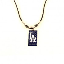 Los Angeles Dodgers Necklace - Diamond Plate - 12 For $39.00
