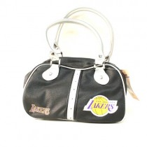 Los Angeles Lakers Purses - BLACK Ripper Style Bowler - $12.00 Each