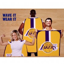 "Opportunity Buy - Los Angeles Lakers Flags - 36""x47"" Fan Flags - 12 For $60.00"