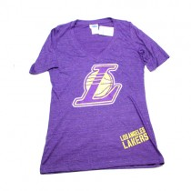 Los Angeles Lakers Shirt - L Logo Purple Short Sleeve T-Shirt - Assorted Sizes - 12 For $60.00