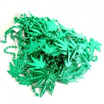 Mardi Gras Beads - Large Leaf Beads - 60 For $30.00