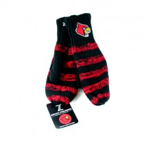 Louisville Cardinals Mittens - Striped Mittens - 12 Pair For $30.00