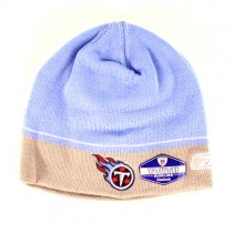 Overstock - Tennessee Titans Beanies - YOUTH Sideline Beanies - Light Blue With Gray Tipping - 12 For $60.00