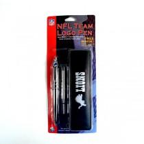 Detroit Lions Pens - Logo Style Pen With Case Set - 12 Sets For $24.00