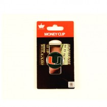 Miami Hurricanes Money Clips - Dome Style Money Clips - 12 For $24.00