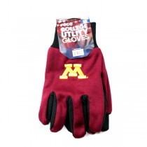 Minnesota Gophers Gloves - Grip Style - 12 Pair For $36.00