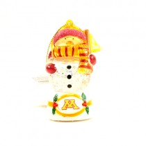 Minnesota Gophers Ornaments - Snowman Scarf Dude - 12 For $24.00